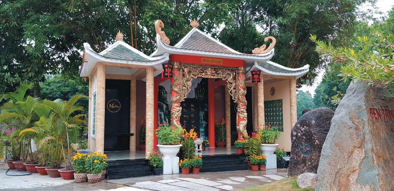 Đền Trình - Hoa Viên nghĩa trang Bình Dương